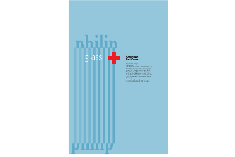 Phillip Glass and Red Cross Poster