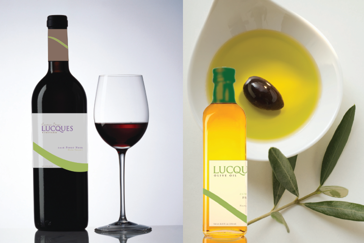 Lucques Restaurant Package Design